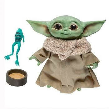 "Star Wars The Mandalorian Baby Yoda Electronic 7 1/2"" Plush Action Figure - Pre-order"